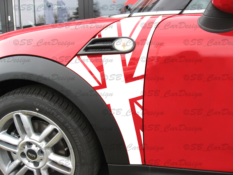 Details About Flags Mudguard Sticker Fender Decal Fbmw Mini Cooper R56 Works Union Jack